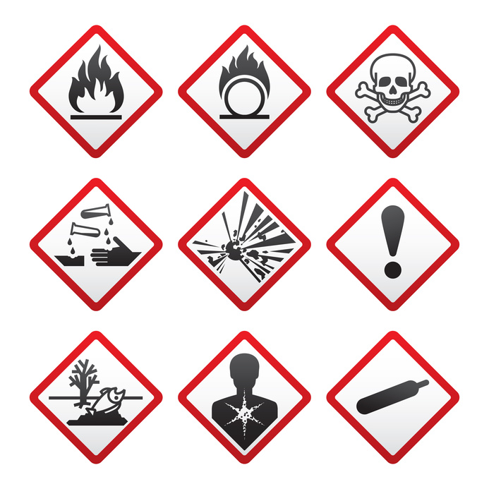 New Hazard warning signs. Globally Harmonized System